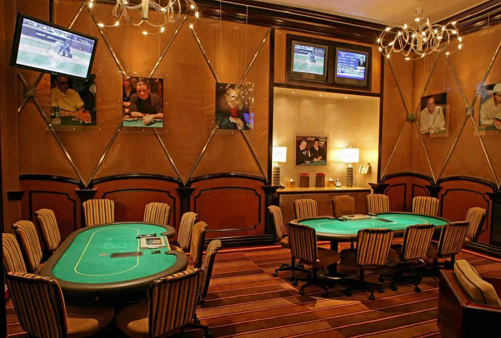 Legends Room in het Bellagio Hotel en Casino waar je voor grote bedragen kunt pokeren/