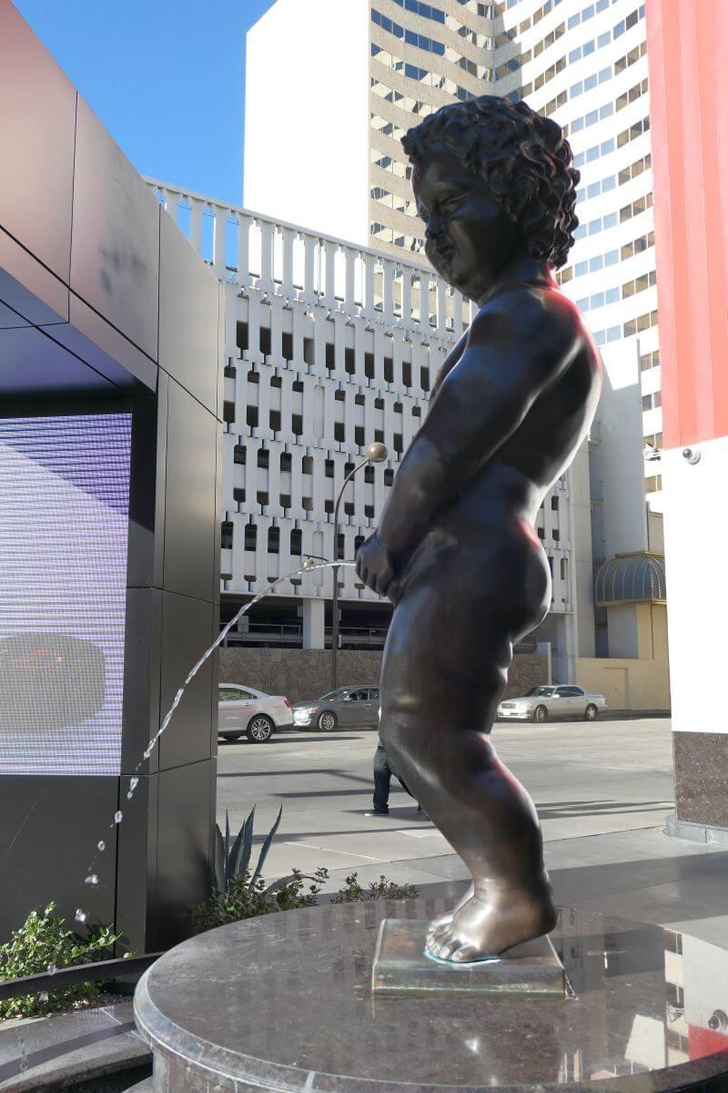 Manneken Pis in actievoor The D Casino in Las Vegas