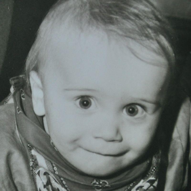 LasVegasNic toen hij nog heel jong was. Foto is uit 1996.