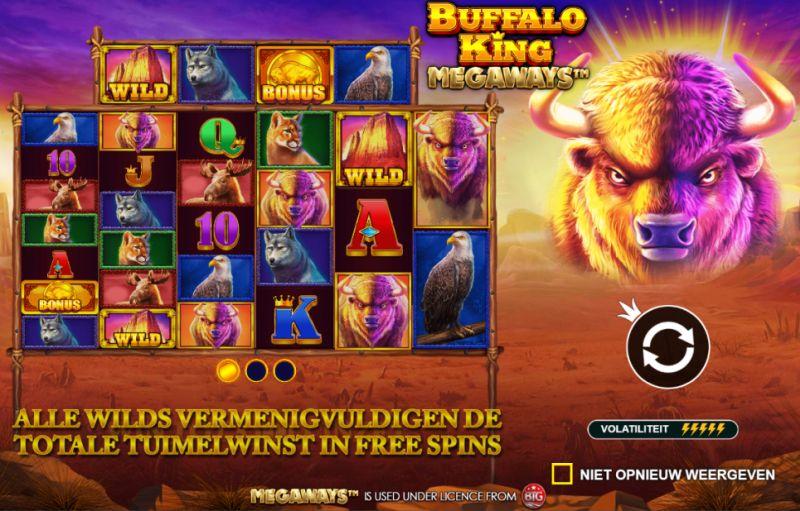 Gokkast Buffalo Kings Megaways, hoge (Bron: BetCity.nl)