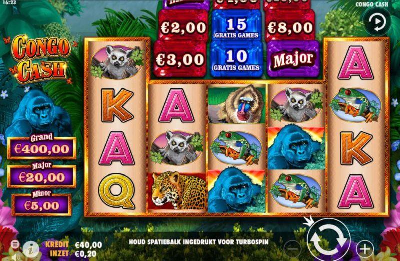 Congo Cash een bekende Vegas slot en ook te spelen op BetCity.nl